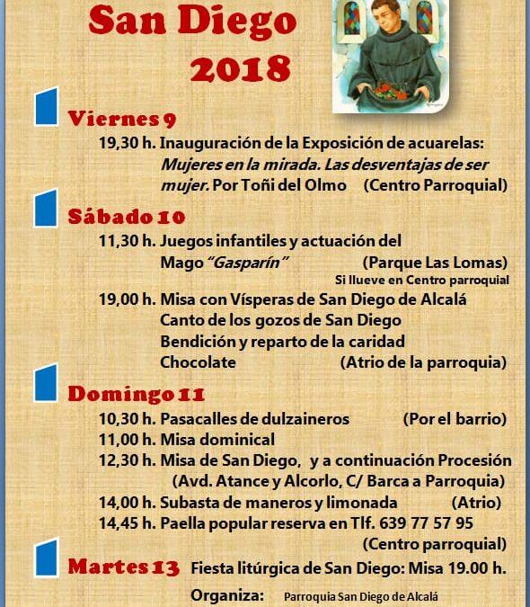 Fiesta San Diego de Alcalá 2018