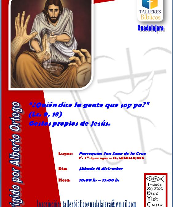 TALLER BIBLICO SÁBADO 15 DE DICIEMBRE 2018