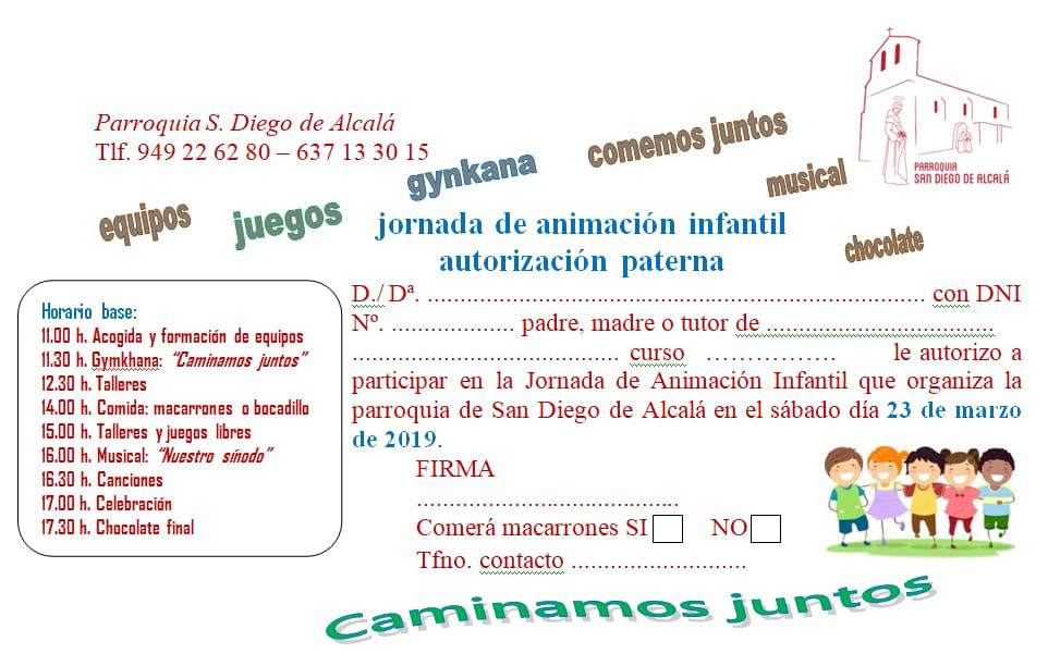 JORNADA DE ANIMACIÓN INFANTIL 23 DE MARZO 2019