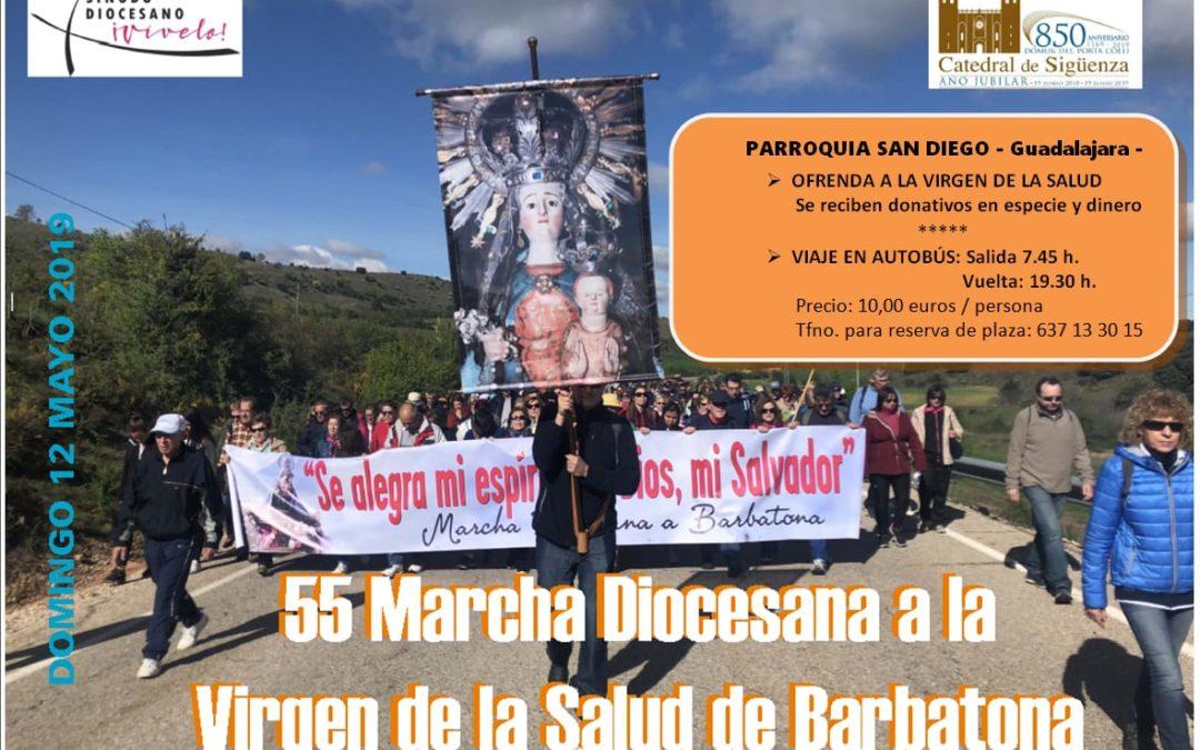 55 MARCHA DIOCESANA A LA VIRGEN DE LA SALUD DE BARBATONA