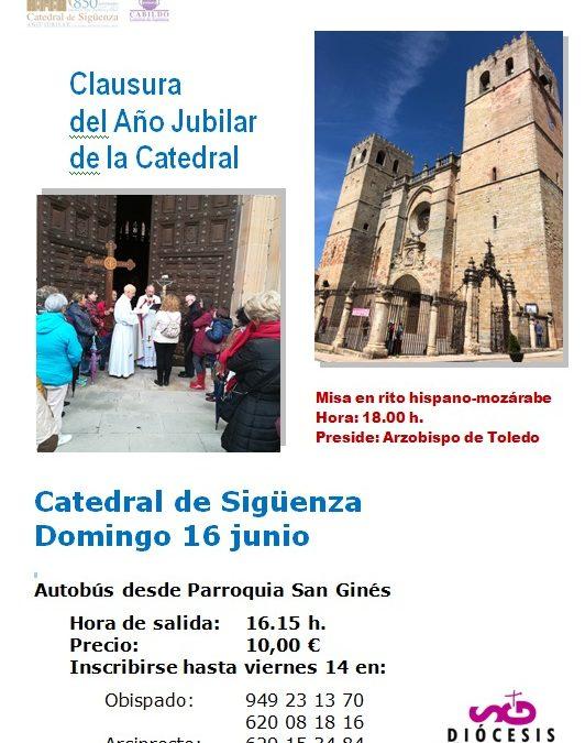 CLAUSURA DEL AÑO JUBILAR DE LA CATEDRAL DOMINGO 16 DE JUNIO