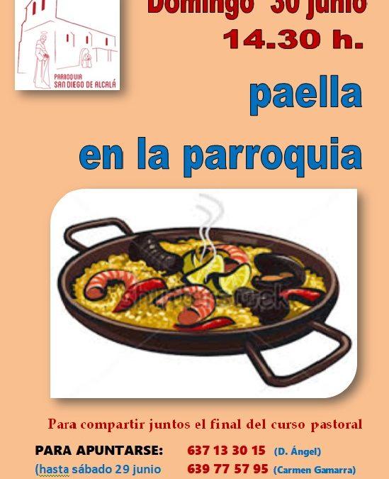 Paella fin de curso pastoral 2019