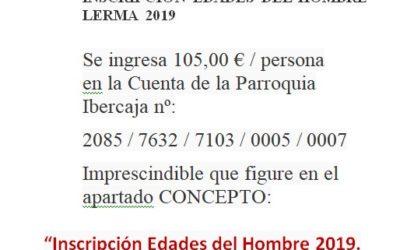 INSCRIPCIÓN EDADES DEL HOMBRE 2019