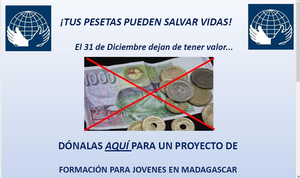 MANOS UNIDAS TUS PESETAS PUEDEN SALVAR VIDAS