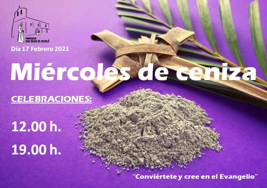 MIERCOLES DE CENIZA HORARIOS MISAS